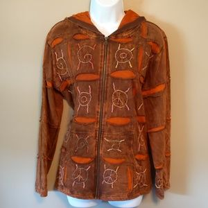 Rising International boho hooded jacket size XL